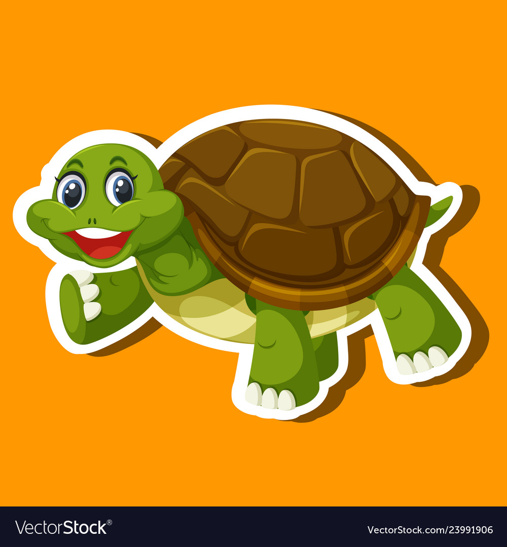 A simple turtle sticker