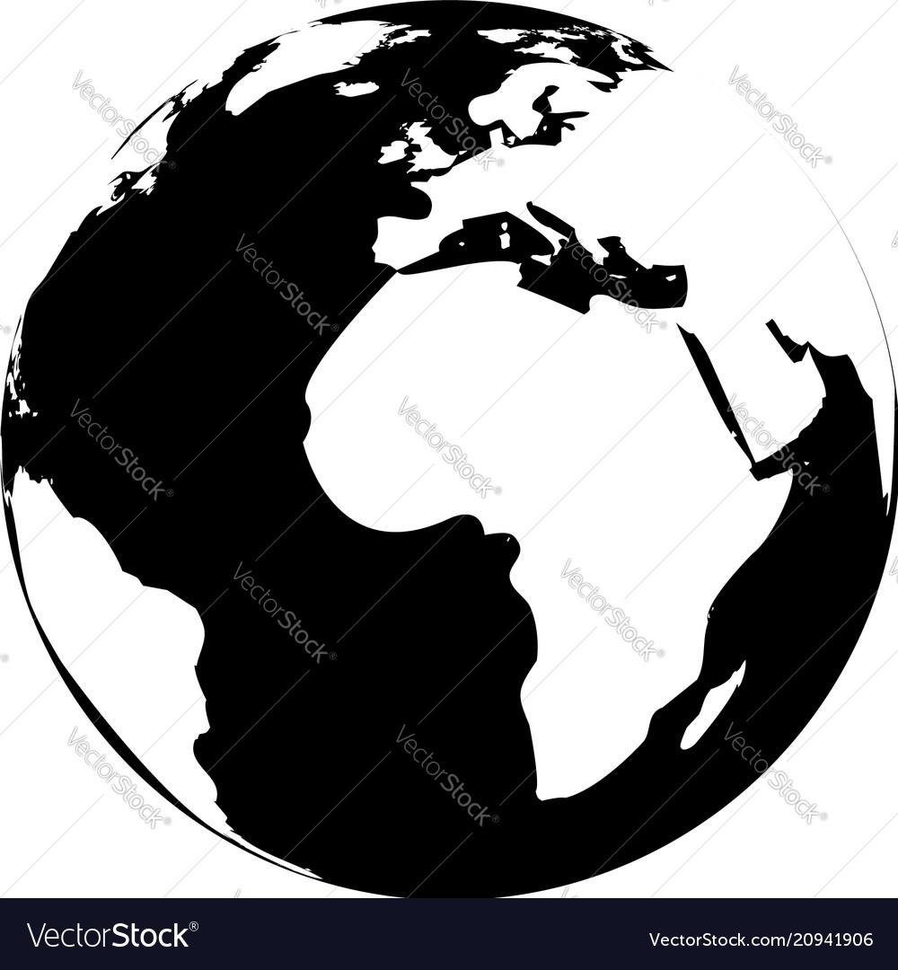 Black and white globe