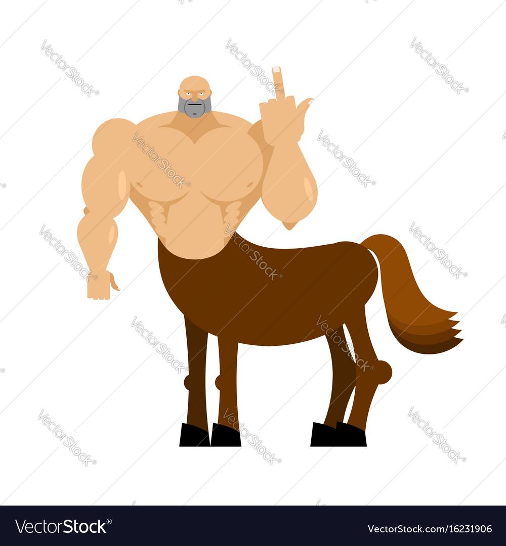 Centaur Fairytale Creature Man Horse Isolated Vector Image