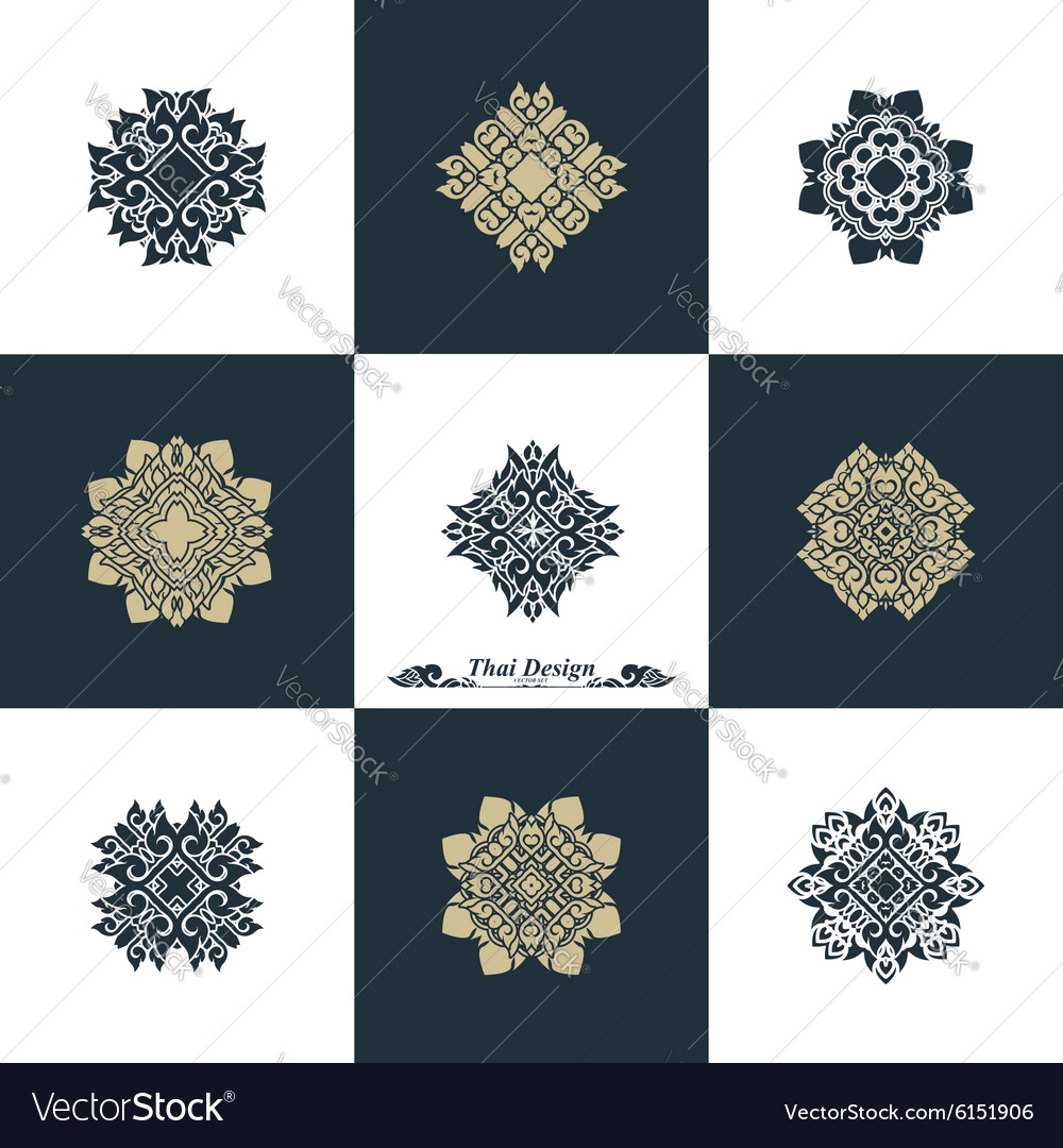 Design Luxury Template Set Swash Elements Art