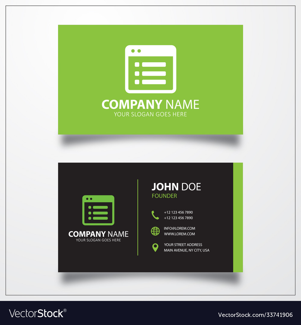 File list icon business card template