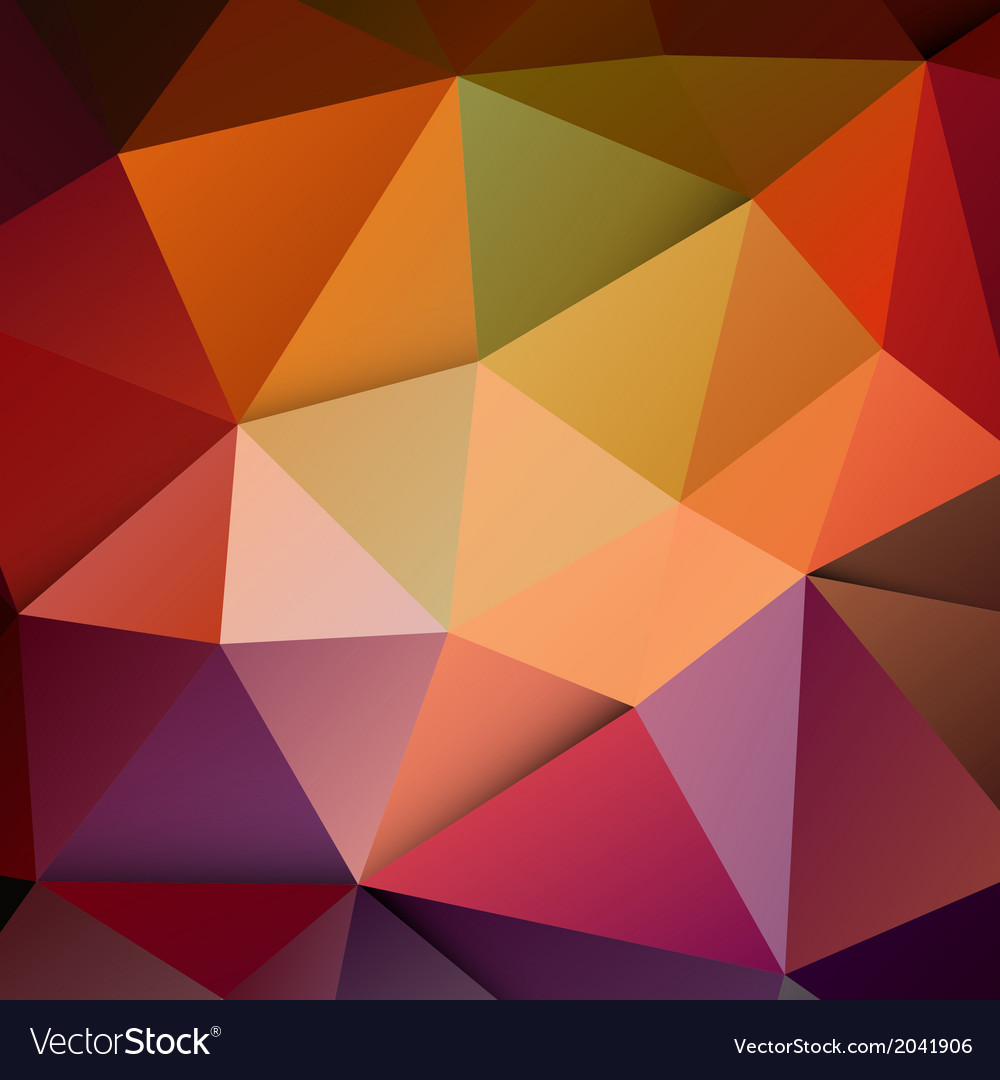 Modern colorful polygon background vector image