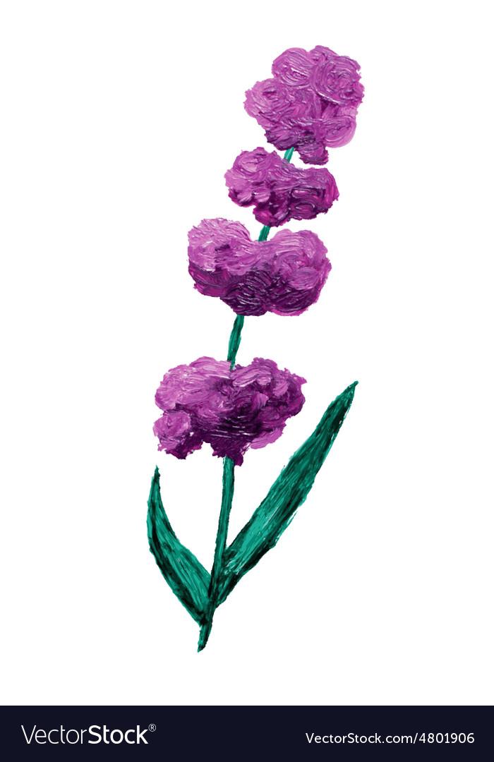 Oil painted lavender