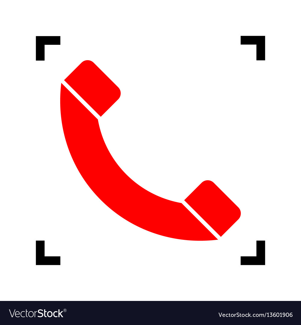 Phone sign red icon inside
