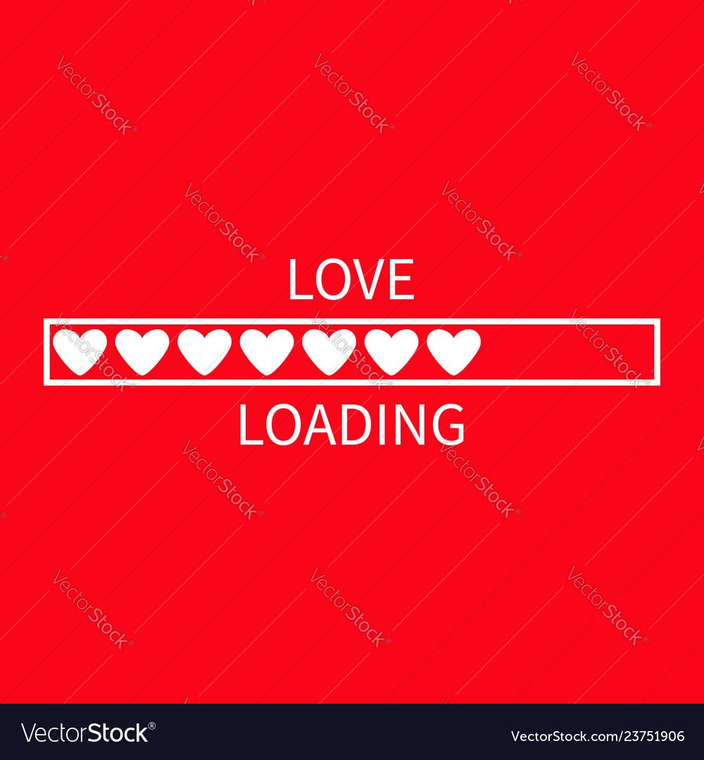 Progress status bar icon love loading collection