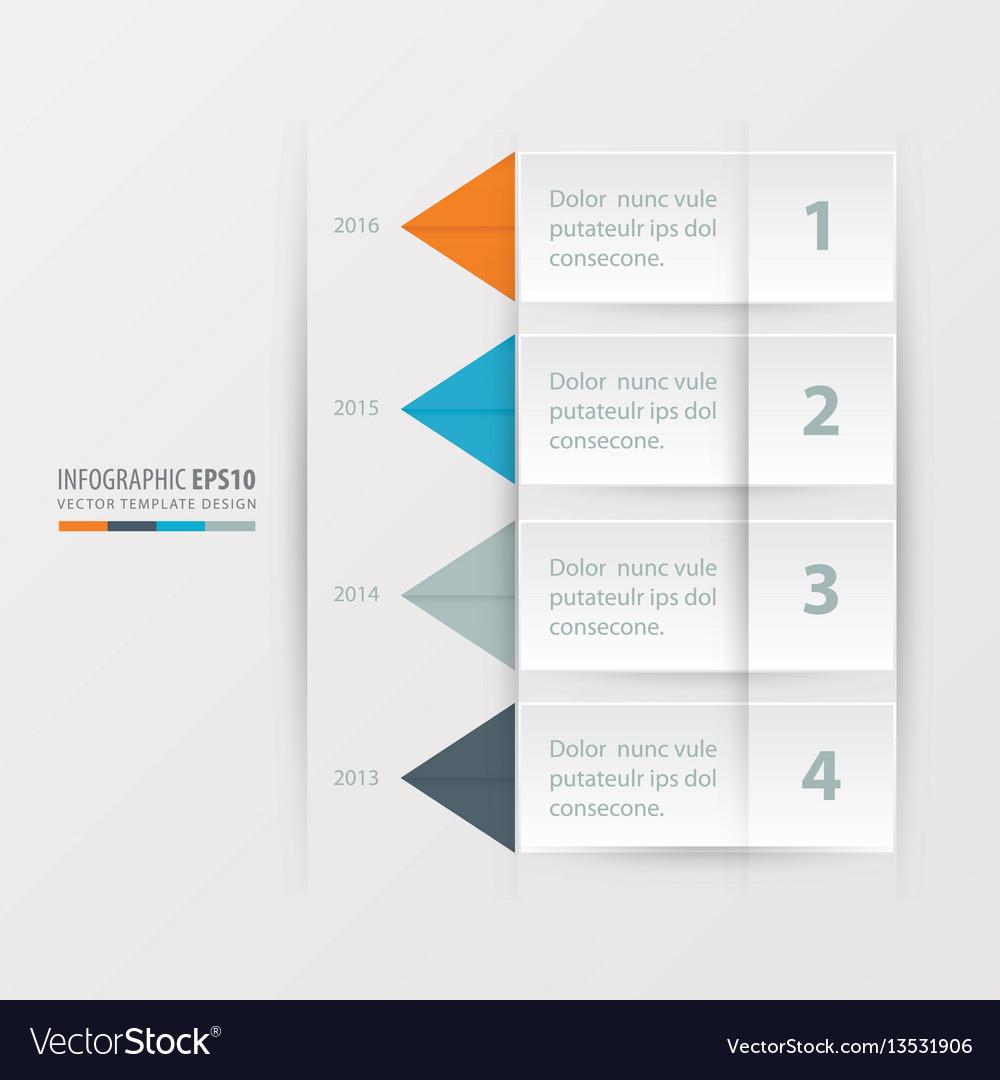 Timeline report template orange blue gray vector image