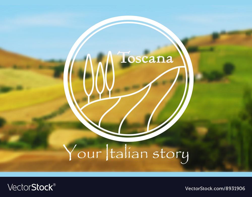 Toscana Italian Landscape Royalty Free Vector Image