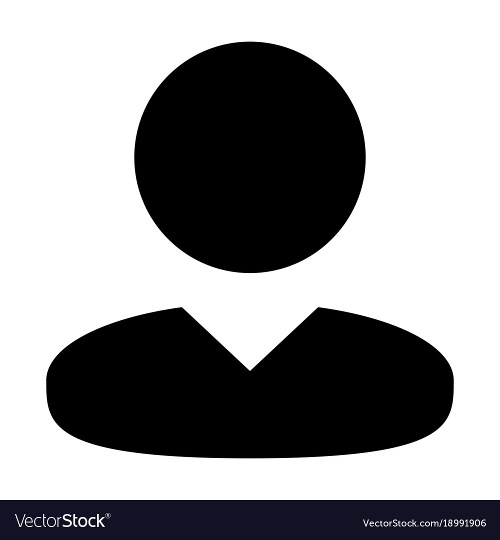 User Icon Male Person Symbol Profile Avatar Sign Vector Image