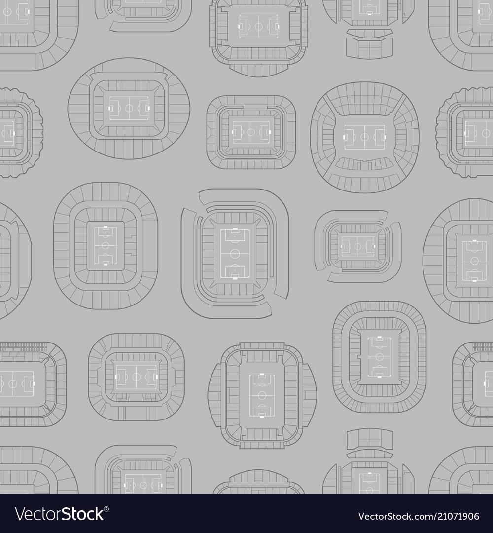 World championship stadiums background seamless vector image