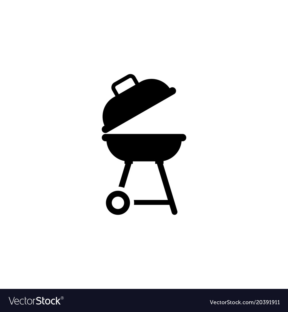 Bbq barbecue flat icon