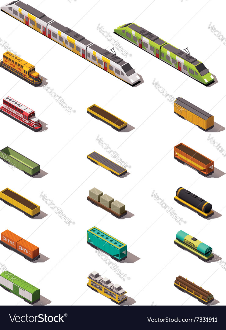 Isometric trains