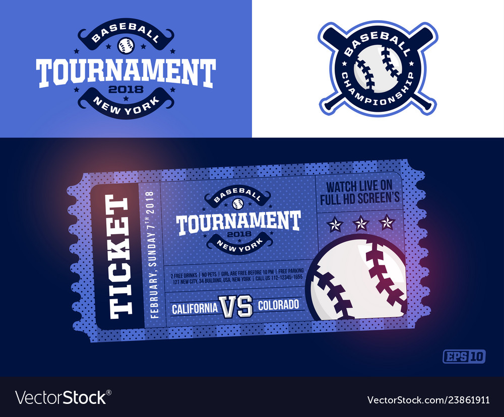 One modern professional design of baseball tickets