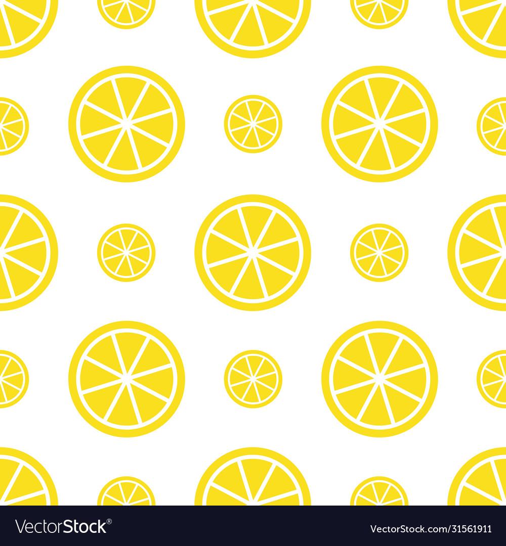 Seamless lemon pattern bright yellow fruit
