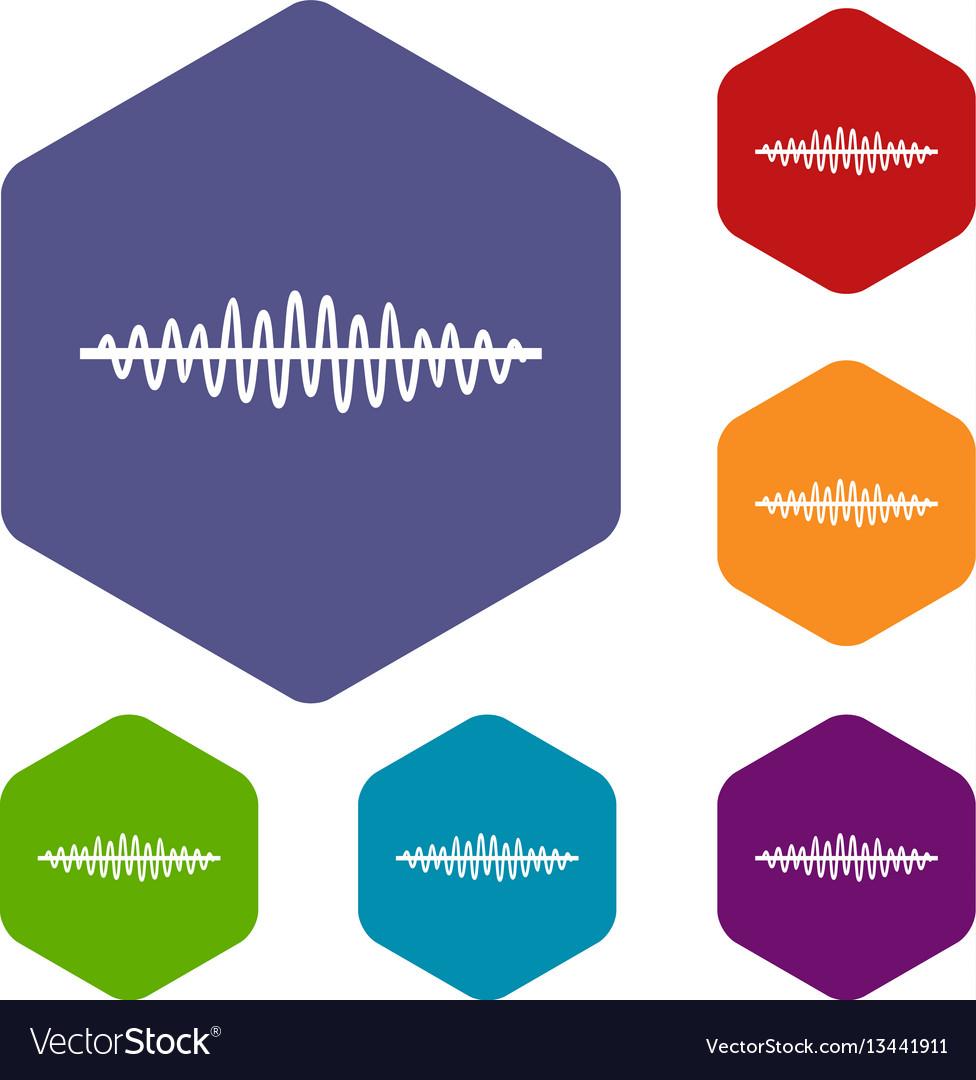Sound wave icons set
