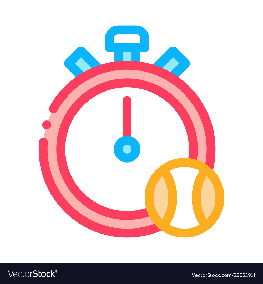 Stopwatch ball icon outline