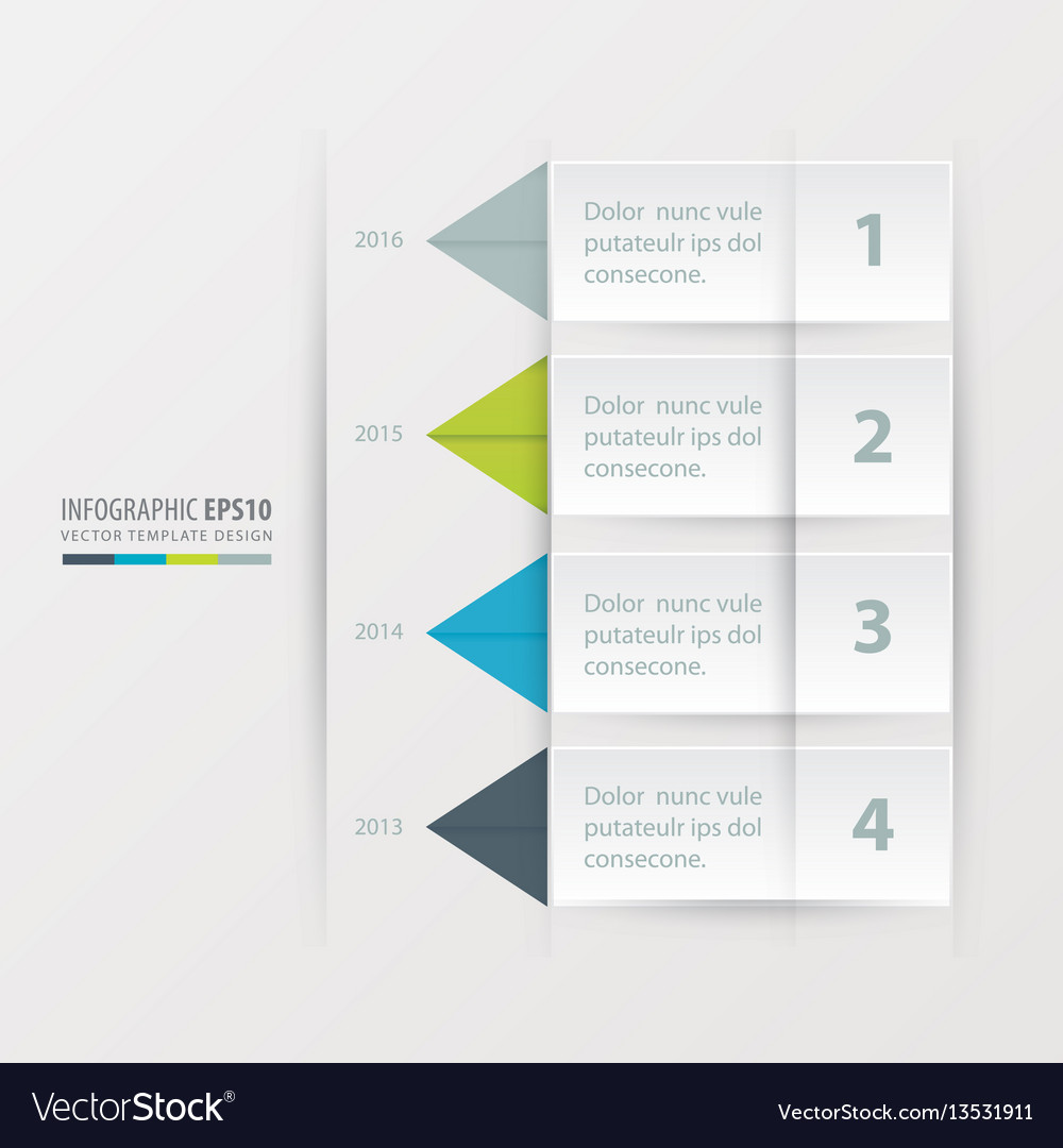 Timeline report template green blue gray color