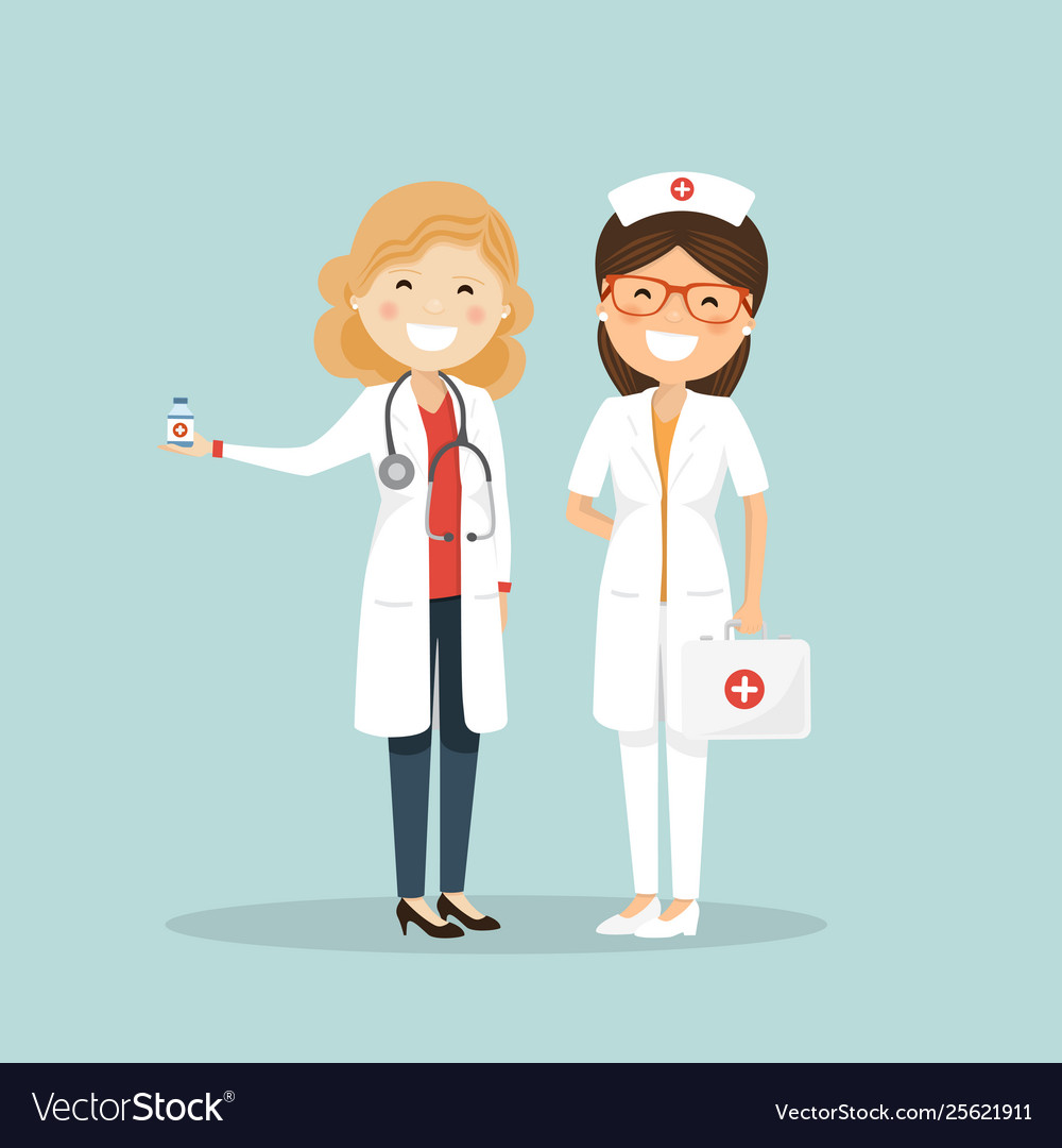 Woman doctor and nurse hospital team