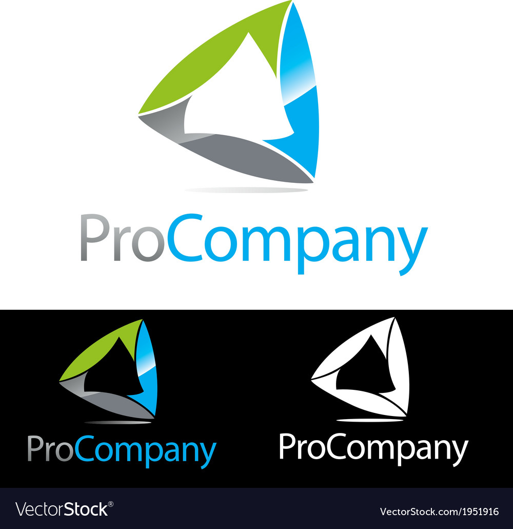 Abstract Corporate Compnay brand icon logo vector image