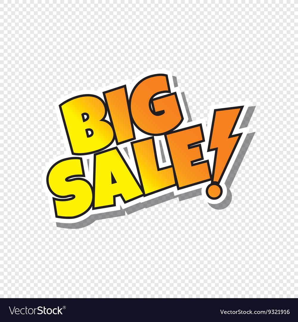 Big sale cartoon text sticker