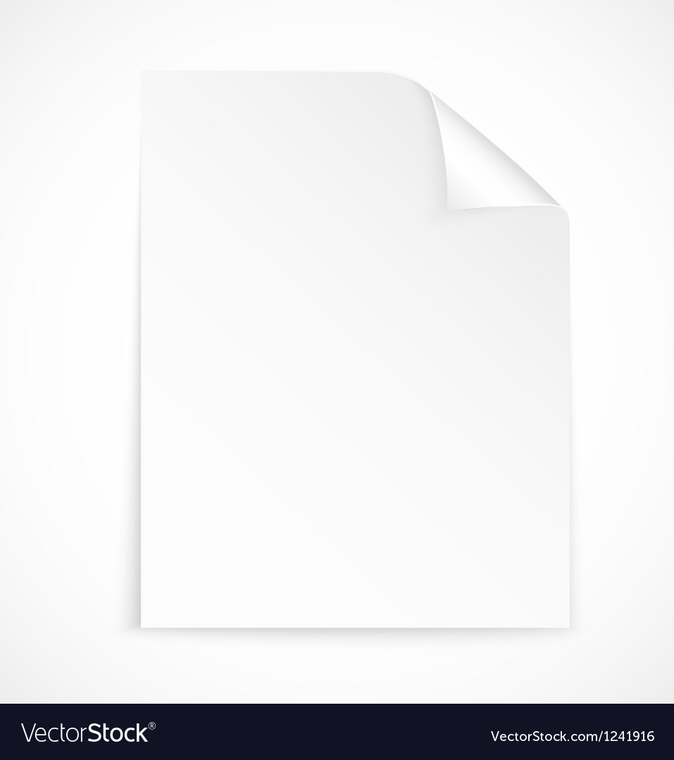 blank letter paper icon royalty free vector image