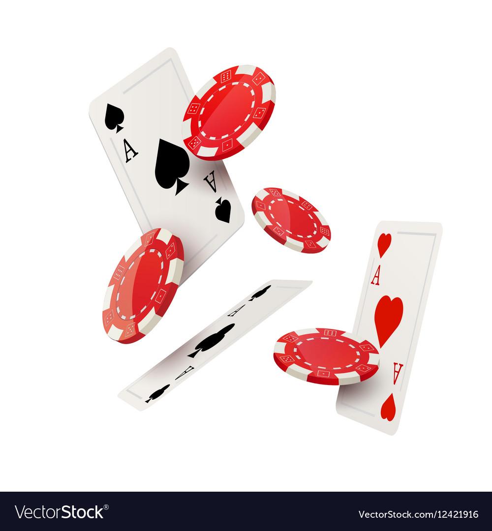 Casino poker design template Falling poker cards