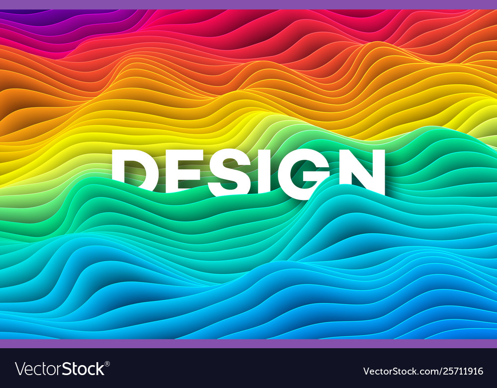 Colourful rainbow curve background