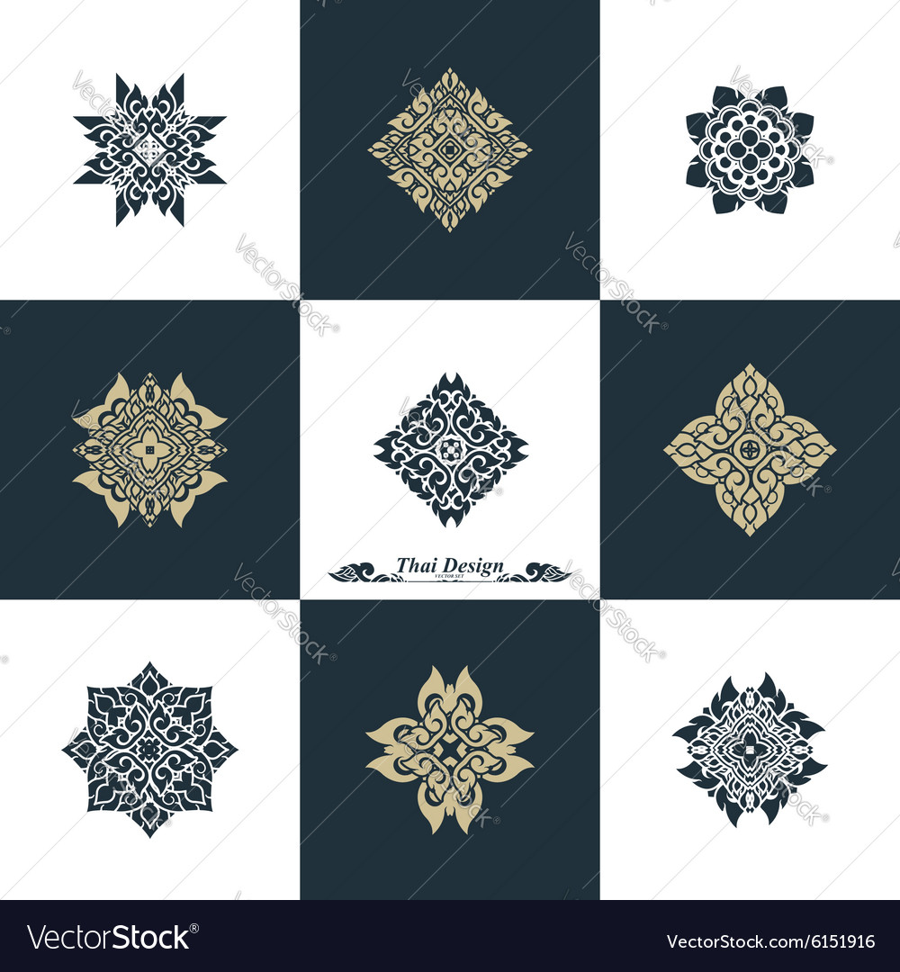 Design Luxury Template Set Swash Elements Art Vint