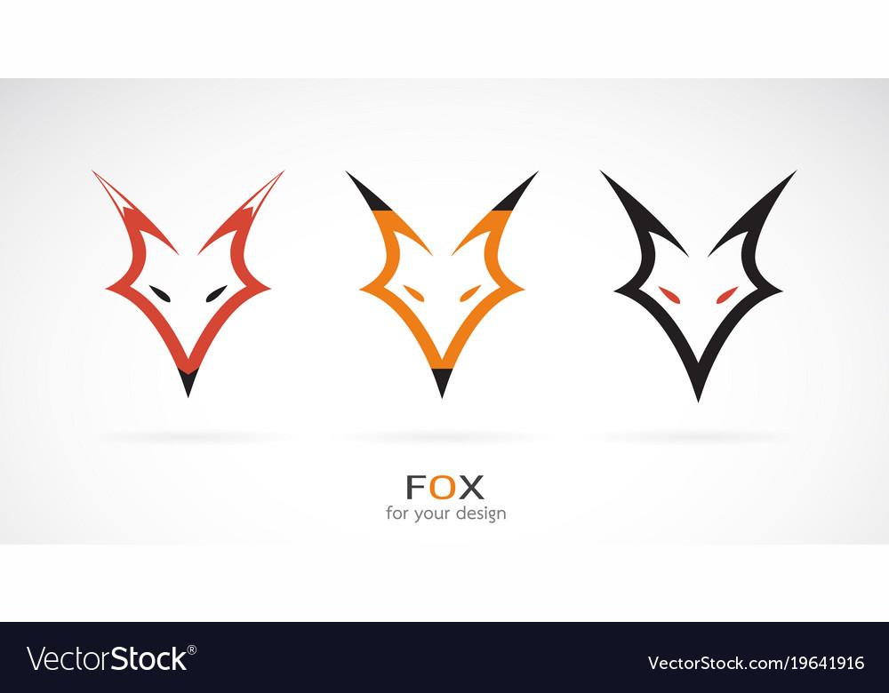 Fox head design on a white background wild