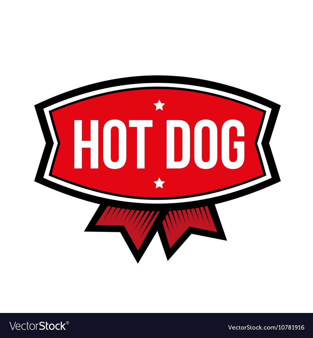 Hot Dog vintage logo