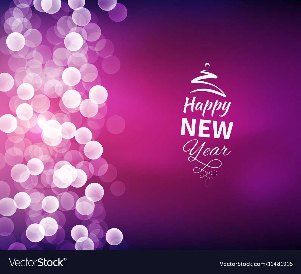 romantic happy new year background vector image
