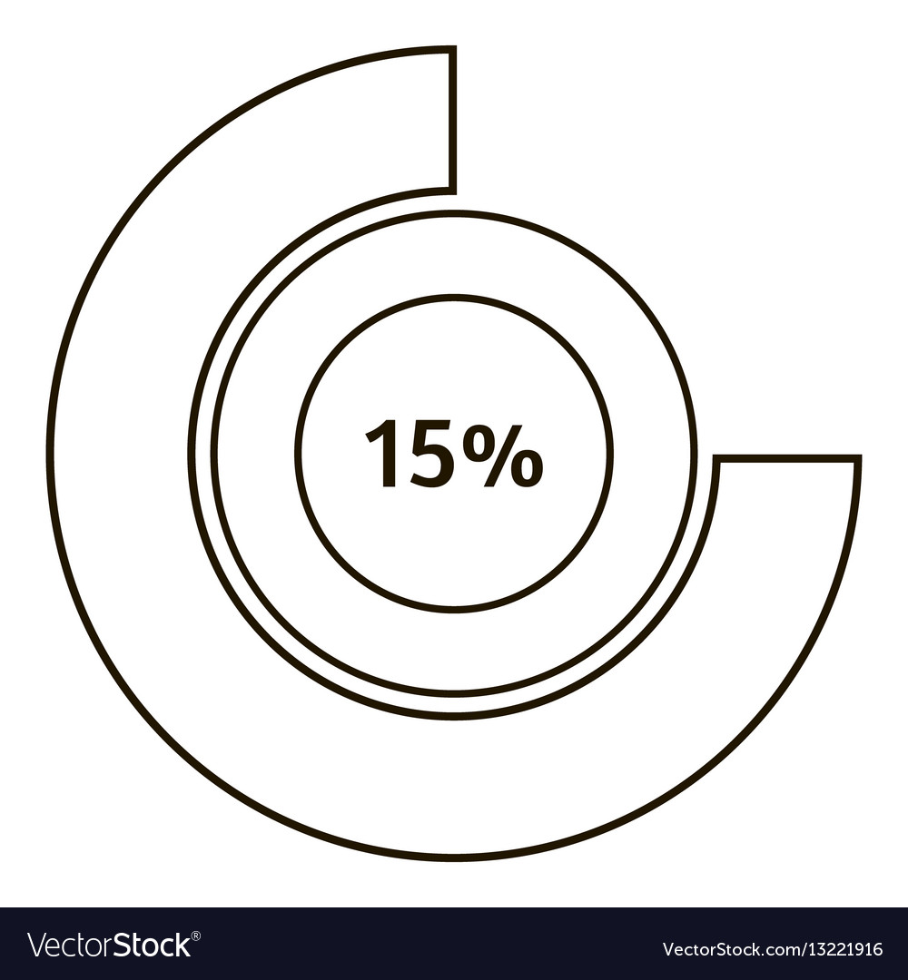 Round diagram infographics outline style