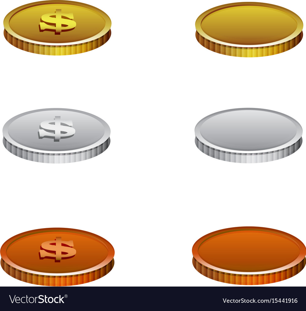 Set of realistic coins