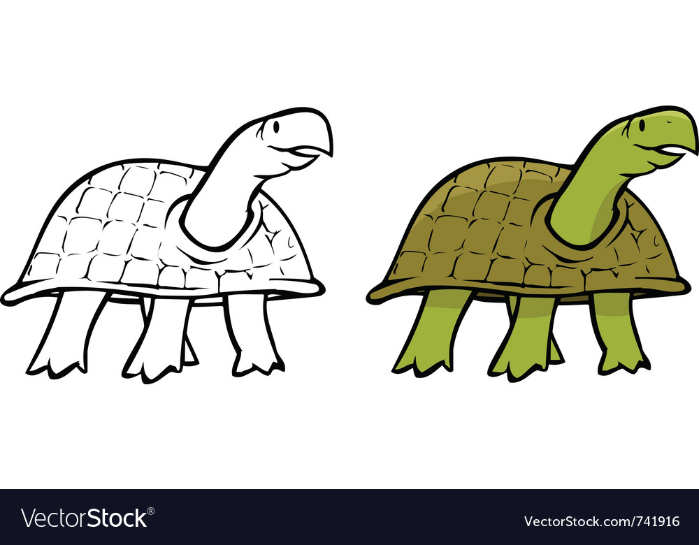 Turtle coloring book Royalty Free Vector Image