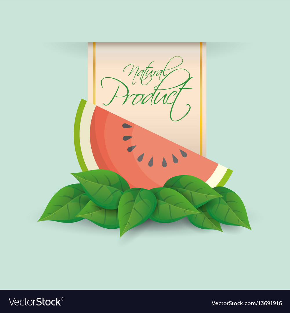 Watermelon natural product label design