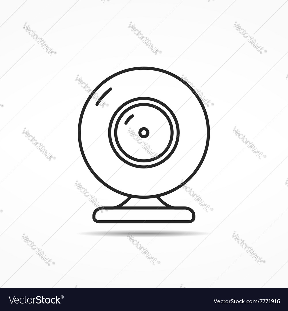 Webcam Line Icon