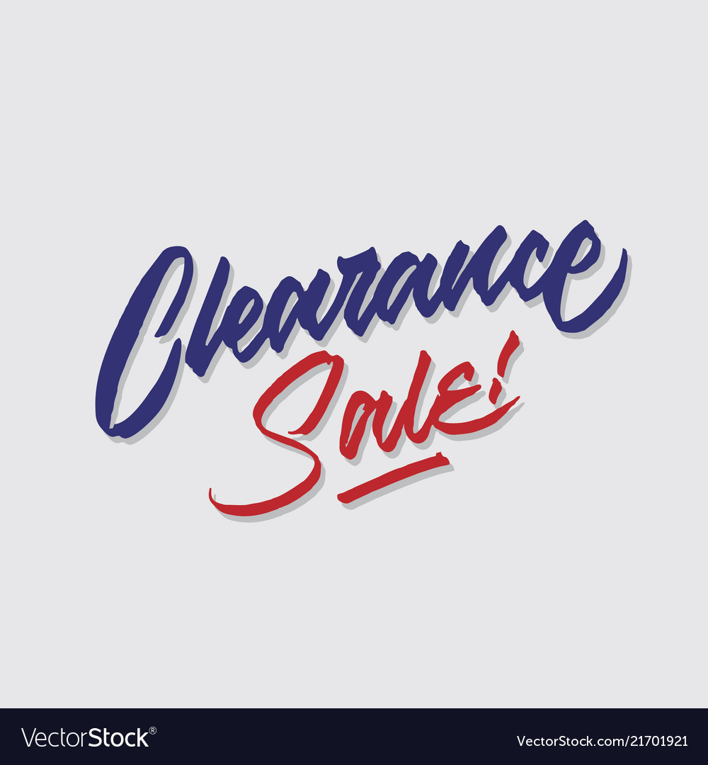 Clearance sale hand lettering typography