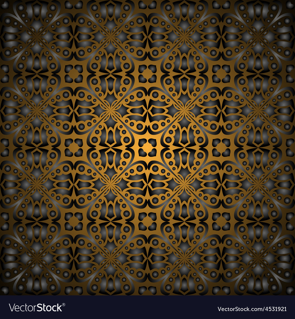 Gorgeous black gold seamless pattern Royalty Free Vector