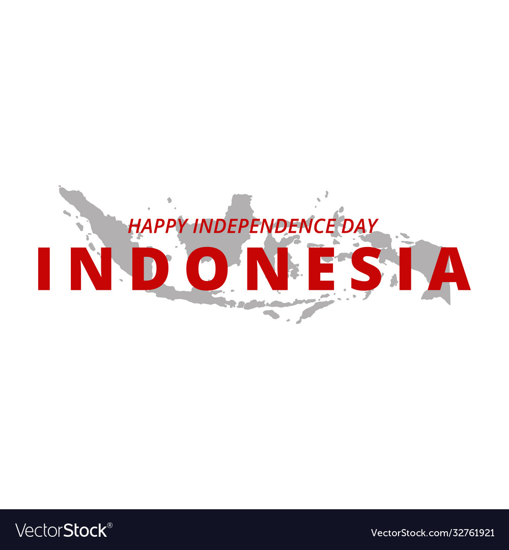 Happy independence day indonesia banner indonesia