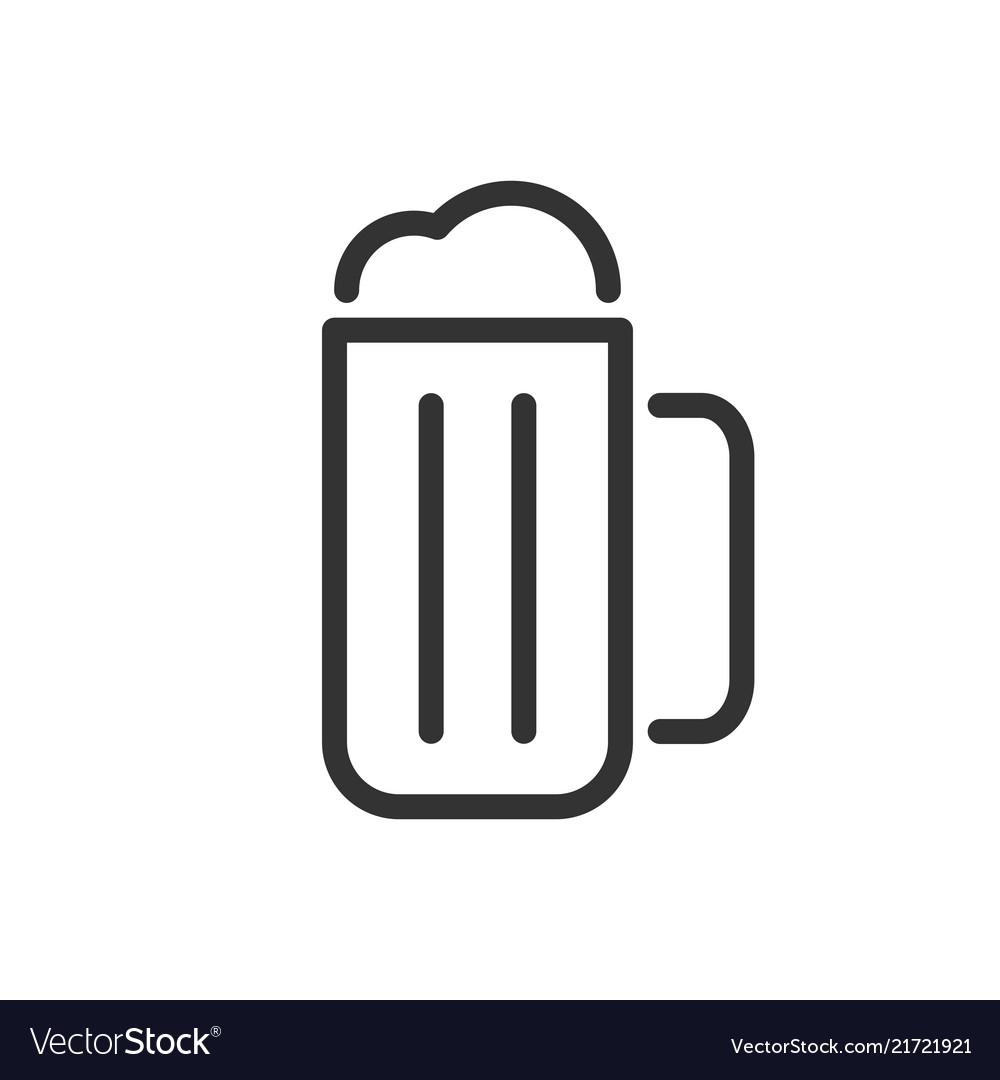 Mug of beer line icon