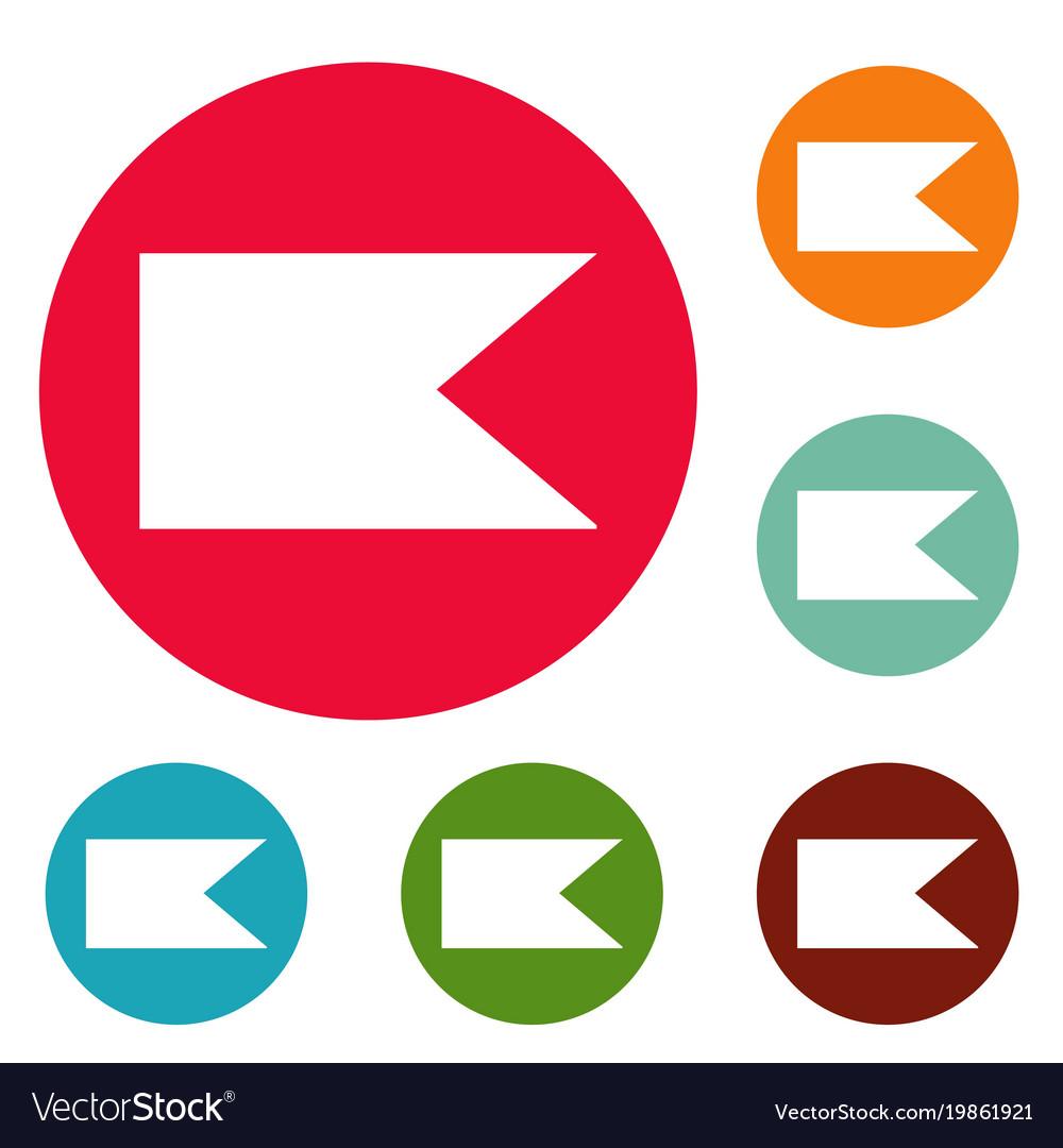 New flag icons circle set