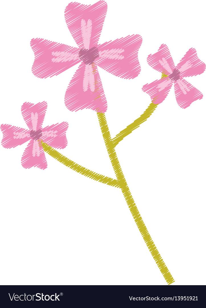Pink flower decoration image sketch