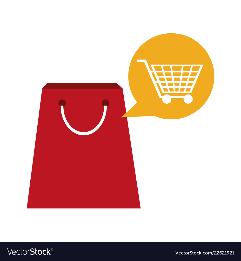 Shopping bag with cart bubble