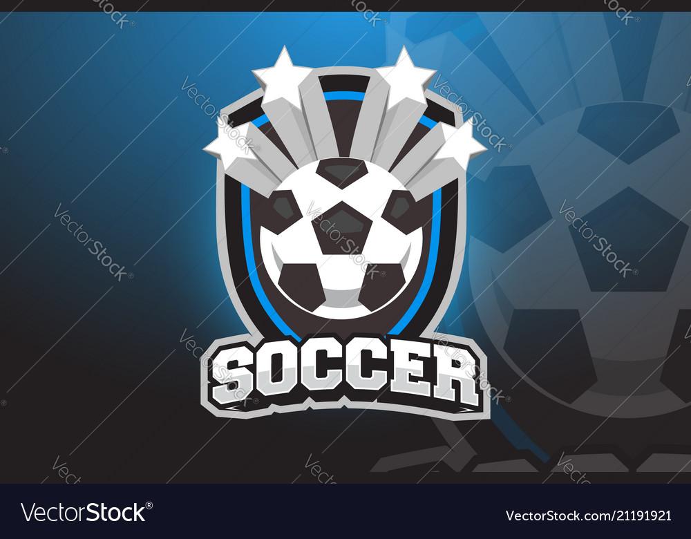 Soccer ball logo design for esports sport team