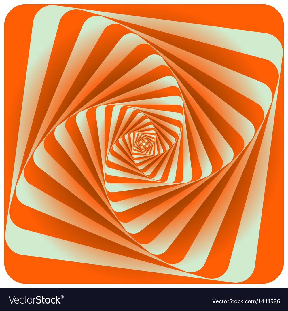 Abstract Spiral Background Orange