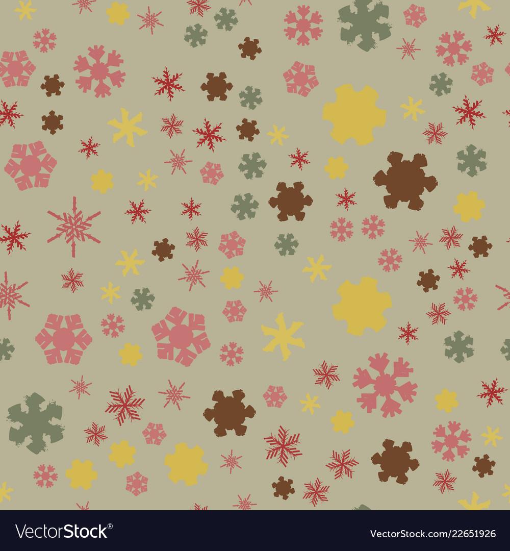 Chunky snowflakes seamless 02