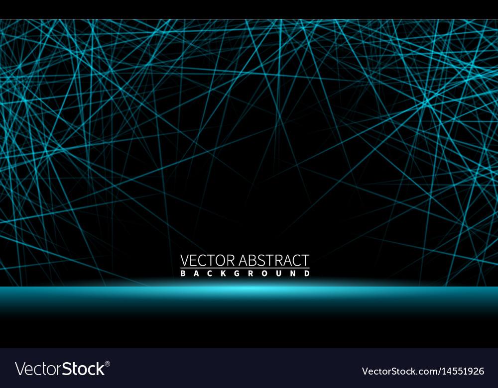 Effect shiny neon blue line realistic elements