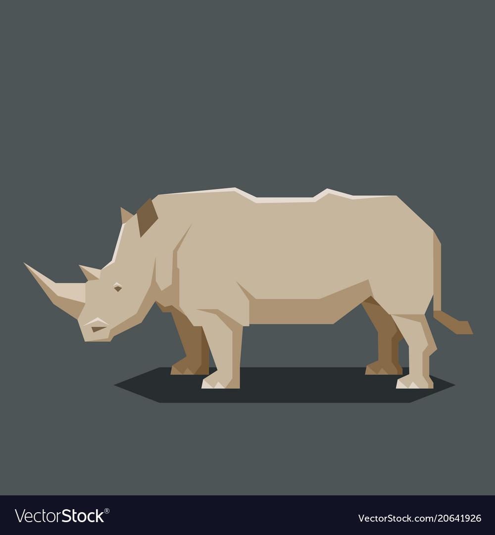 Flat geometric rhinoceros