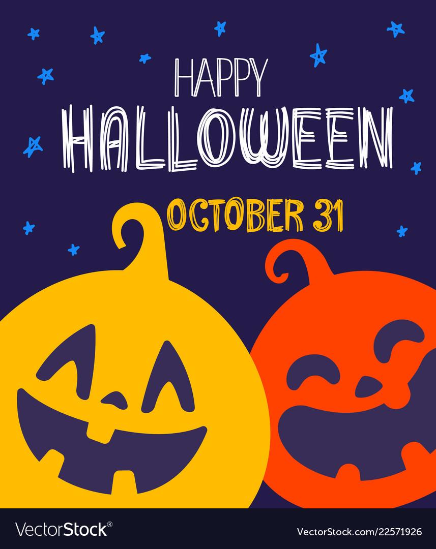 Happy halloween greeting card