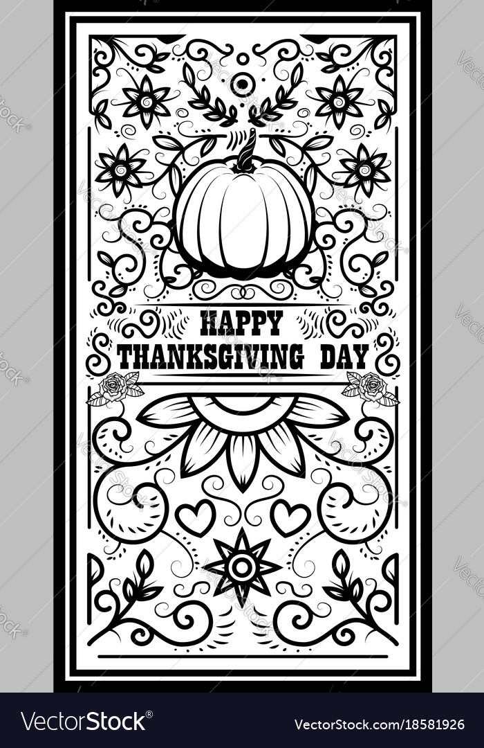 Happy thanksgiving day banner template with