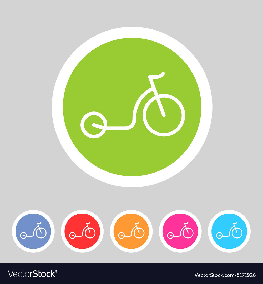 Kick bike scooter flat icon web sign symbol logo